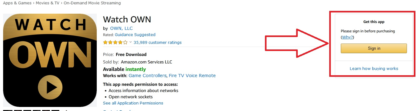OWN TV on Fire TV