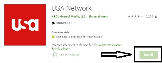 Watch USA Network on Android TV