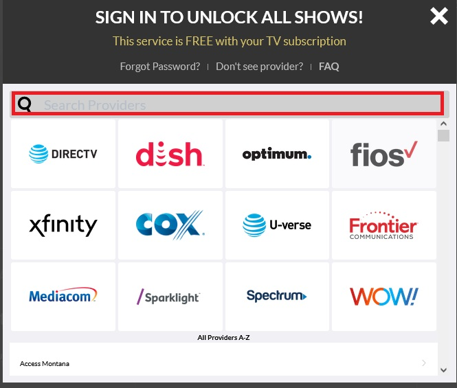 watch foodnetwork com activate TV Providers