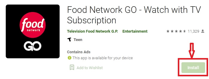 watch foodnetwork com activate on Android