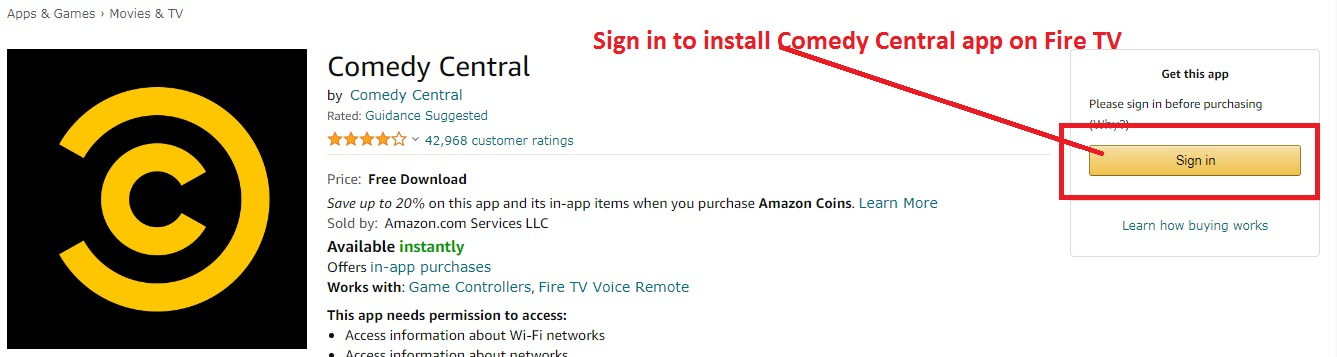 Comedy Central on Fire TV