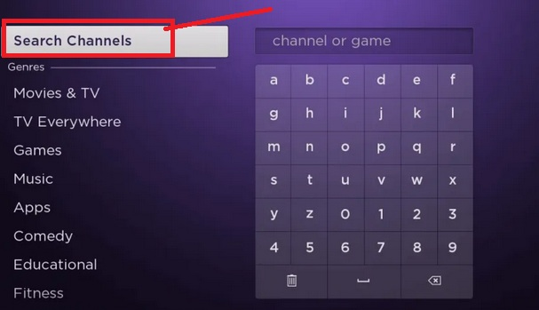 Go to Roku Search Channels