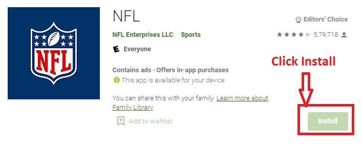 NFL on Android TV