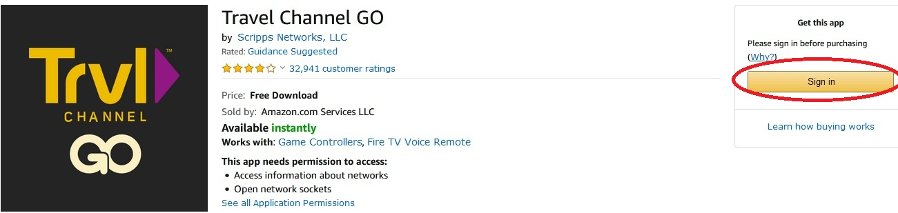 Travel Channel on Fire TV