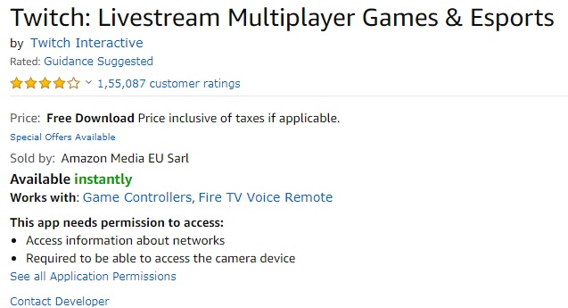 Twitch on Fire TV